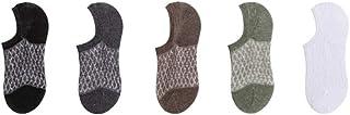 calcetín, calcetín de Hombre Cinco Pares Superficial de Las Mujeres de la Boca de Verano Fina del Acoplamiento del Verano Antideslizante Invisibles del Barco Mujer