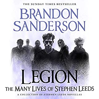Legion: The Many Lives of Stephen Leeds                   By:                                                                                                                                 Brandon Sanderson                               Narrated by:                                                                                                                                 Oliver Wyman                      Length: 10 hrs and 12 mins     73 ratings     Overall 4.7