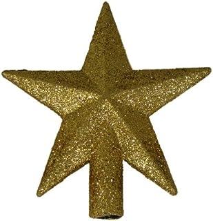"""Kurt Adler 4"""" Petite Treasures Gold Glittered Mini Star Christmas Tree Topper - Unlit"""