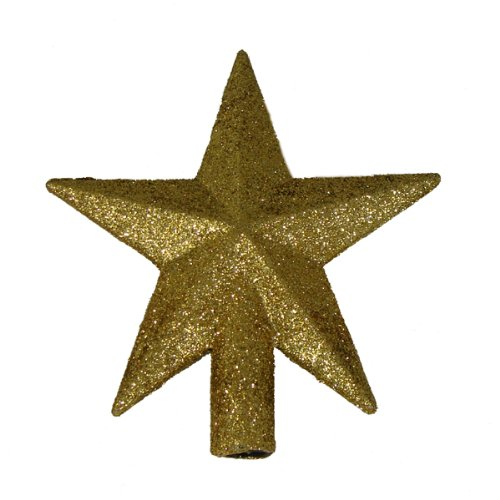 Kurt Adler 4' Petite Treasures Gold Glittered Mini Star Christmas Tree Topper - Unlit