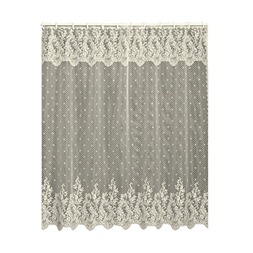 Heritage Lace Floret 72-Inch by 72-Inch Shower Curtain, Ecru