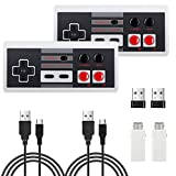 2 Pack NES Wireless Controller, AGPTEK NES Classic Controller Wireless for Nintendo Classic Mini Edition and PC,No-Wired Gamepad Joypad Support Windows