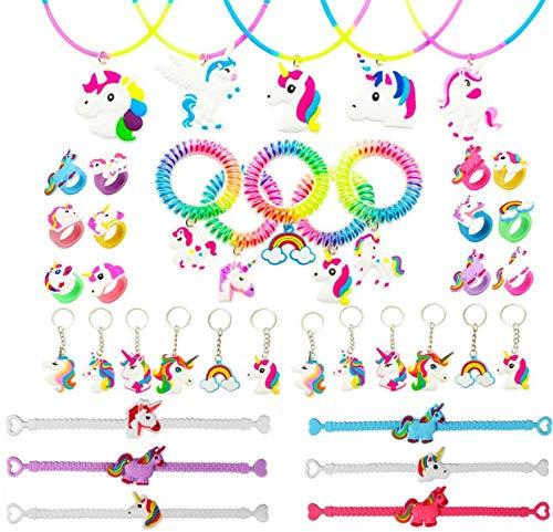 Funnyshow Lot de 40 Licorne Kit, Licorne Bracelet Caoutchouc...