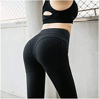Xu Yuan Jia-Shop Yoga Pants Peach Fitness Hip-Lifting Elastic Fitness Pants Women's Sports Tight-Fitting Running Quick-Dry...