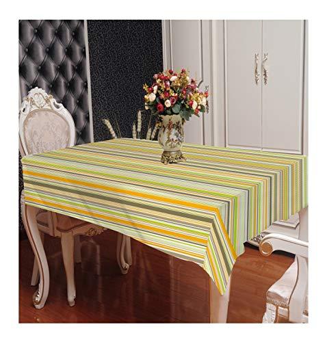 ZHAOXIANGXIANG Décoration D'Intérieur Nappe d'impression Fashion Creative Colour Stripe Pattern Ou Un Tapis De Table Lavable Tailles Diverses,90Cm×130Cm