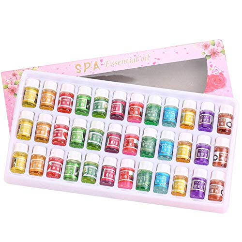 36Pcs Essential Oils Set Plant Aromatherapy Essential Oils Set for Diffusers Sleep Skin