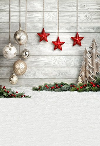 Leyiyi 12x8ft Merry Christmas and Happy New Year Backdrop Golden Leaves and Snowflake Glitter Bokeh Sparkle Red Merry Xmas Background Holiday Party Decor Cake Table Baby Shower Studio Props Banner
