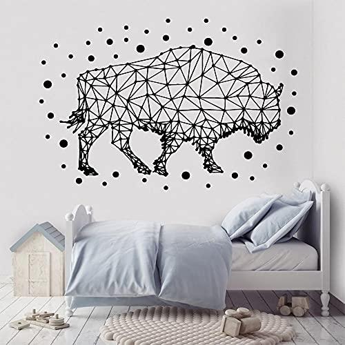 N\A Dibujos Animados geométricos Animales Pegatinas de Pared Artista de Vinilo decoración del hogar para niños decoración del hogar