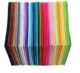 AILOVA 40 giocattoli in tessuto non tessuto fai da te, fogli di feltro per patchwork, cucito fai da te, in tessuto colorato, tovaglia quadrata per lavori artigianali per esposizioni (15 x 15 cm)