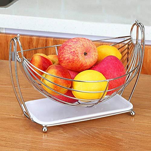 GBESTAO fruitschommel | titel| staander | hangmat voor midden van de tafel | robuust modern staal met chroomafwerking