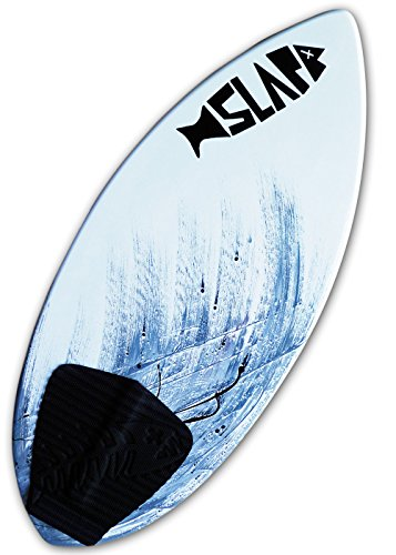 """Slapfish USA Made Skimboards - Fiberglass & Carbon with Traction Deck Grip - Kids & Adults - 2 Sizes - Gray (52"""" Board & Arch Bar)"""