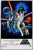 Póster de la película Star Wars de ciencia ficción retro, tamaño 30 x 46 cm, 300 mm x 460 mm