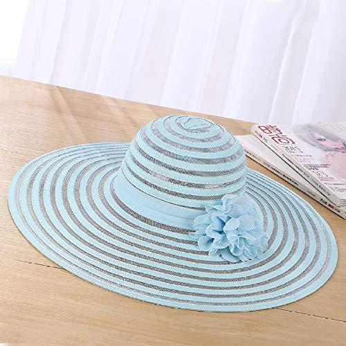 Sombreros de la Iglesia para Las Mujeres Señoras Raya Gran ala Ancha Protección UV Diseño Floral Femenino Banquete de Boda Gorras de la Iglesia