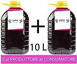 Confezione 2 PET da 5 L di VINO PRIMITIVO Campania IGP IGT rosso CAMPANIA 14% Sfuso da Azi...