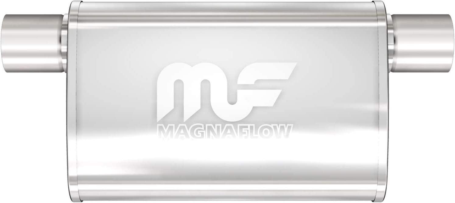 MagnaFlow 4in x 9in Oval Offset/Offset Straight-Through Same Sid