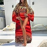 maozuzyy Bikinis Bañador Mujer Traje De Baño Sexy con Estampado De Leopardo Traje De Bikini Encubierto para Mujer Ropa De Playa-01_Red_M