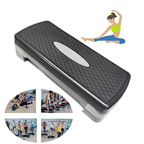 Fitness Pedaal, Verstelbare Aerobic Stepper Hoogte Verstelbaar 2 Niveau Aerobic Step Voor Thuis En Gym,Black