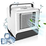 Air Cooler, Evaporative Air Cooler& Portable Air Conditioner/Humidifier Mini-negative Ion USB Air Conditioning Fan, Desktop Cooler Office Refrigeration Strong, Low Noise Design with Night Light New