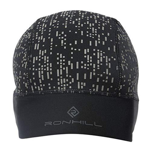 Ronhill - Berretto da Notte Unisex, Unisex - Adulto, RH-005135, Nero/Riflettente, Taglia Unica