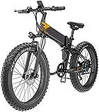 Bicicleta eléctrica 400W 26 pulgadas Fat Tire Montaña bicicleta eléctrica Beach moto de nieve for adultos, Bicicletas de montaña plegable eléctrico, E-Bici 7 Velocidad Ligera bicicletas for unisex