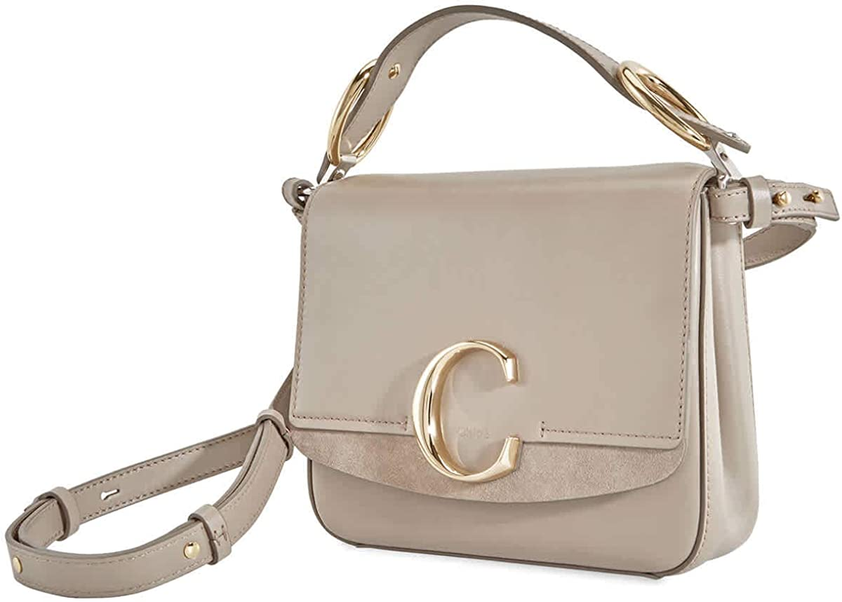 Chloe C Small Albuquerque Mall Square Bag- Motty Today's only Grey Shoulder