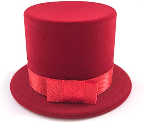 popular Mallofusa Straw Hat Velvet high quality Rings sale Jewelry Box Earring Ear Stud Case Gift Container (Red) outlet online sale