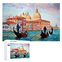 Venice Italy (3) 木製パズル大人の贈り物子供の誕生日プレゼント(50x75cm)1000ピースのパズル