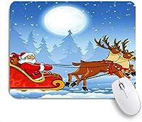 TARTINY ゲーミング マウスパッド,メリークリスマストナカイサンタクローススノーフレークホリデー,マウスパッド レーザー&光学マウス対応 マウスパッド おしゃれ ゲームおよびオフィス用 滑り止め 防水 PC ラップトップ