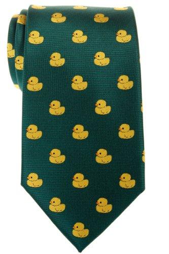 Corbata para hombre con diseño de patos de goma de Retreez, tejido de microfibra Verde verde Talla única