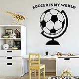 Lindo fútbol autoadhesivo de vinilo impermeable tatuajes de pared decoraciones...