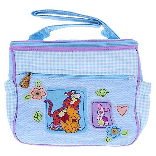 Winnie The Pooh Blue & Lilac Checker Mini Diaper Bag