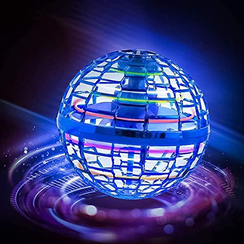 Juguete volador para niños con bola voladora, giro de 360°, con luces LED brillantes, juguete volador, para interior y exterior, regalo para niños