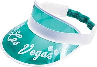Las Vegas Card Dealer Classic Visor Costume Hat, Green White, One Size