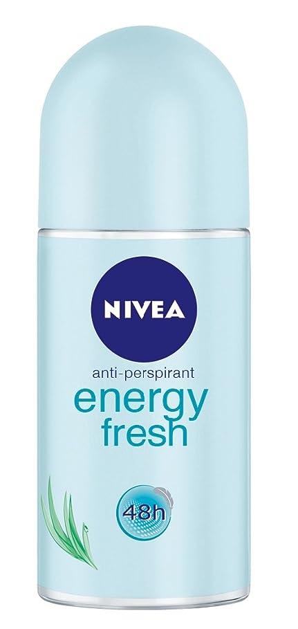 ぬいぐるみボタン探すNivea Energy Fresh Anti-perspirant Deodorant Roll On for Women 50ml - ニベアエネルギー新鮮な制汗剤デオドラントロールオン女性のための50ml