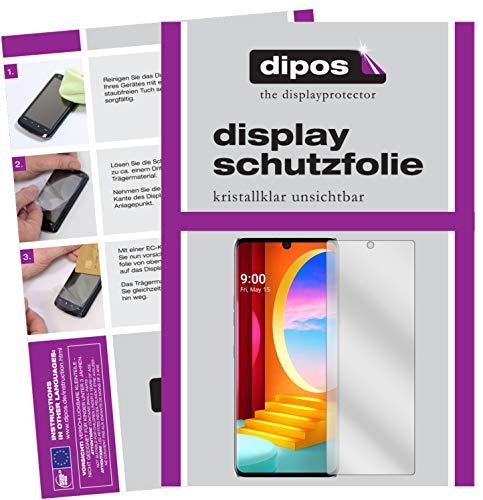 dipos I 5X Schutzfolie kompatibel mit LG Velvet 4G Bildschirmschutz-Folie klar (Kleiner als das Glas, da Dieses gewölbt ist)
