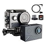【進化版】MUSON(ムソン) MAX1 アクションカメラ 4K高画質 40M防水 EIS手ぶれ補正 WiFi搭載 170度超広角レンズ 1350mAhバッテリー2個 外部マイク対応 リモコン付き HDMI出力 2インチ液晶画面 アクションカム スポーツカメラ 水中カメラ 防犯カメラ GREY