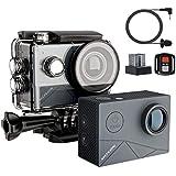 MUSON(ムソン) アクションカメラ 4K高画質 40M防水 EIS手ぶれ補正 WiFi搭載 SONYセンサー 170度超広角レンズ 1350mAhバッテリー2個 外部マイク対応 リモコン付き HDMI出力 2インチ液晶画面 ドライブレコーダーとして使用可能 アクションカム スポーツカメラ 水中カメラ 防犯カメラ ウェアラブルカメラ[メーカー1年保証] MAX1