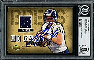 Drew Brees Autographed Memorabilia 2006 Upper Deck Game Jersey Card #Gj -Db San Diego Chargers - Beckett Authentic