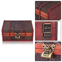 化粧箱 木製ジュエリーボックス、ヴィンテージジュエリーボックス、木製収納ボックス、化粧箱、適切なジュエリーディスプレイ、収納ケース、ジュエリーボックス、時計、リング、チェーン用に積み