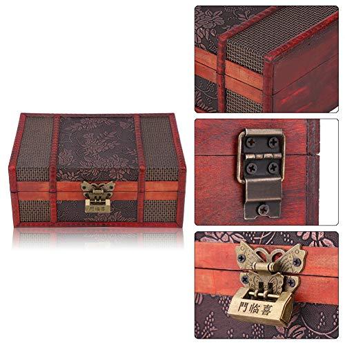 Schmuckkästchen, Vintage Schmuckschatulle Aufbewahrungsbox aus Holz Make-up-Box geeignet Schmuck Display Aufbewahrung Koffer Schmuckkasten Stapelbare für Uhren Ringe und Ketten