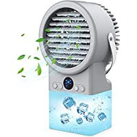 Karii Portable Cooler Fan with Humidifier & 3 Cooling Speeds 7 LED Night Light