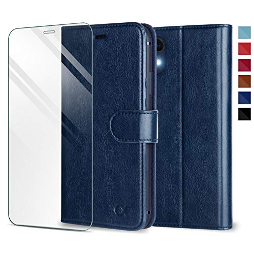 OCASE iPhone XR Case [TPU Shockproof Interior Protective Case] [Card Slot] [Kickstand] Leather Wallet Flip Case for iPhone XR Devices 6.1 Inch - Blue