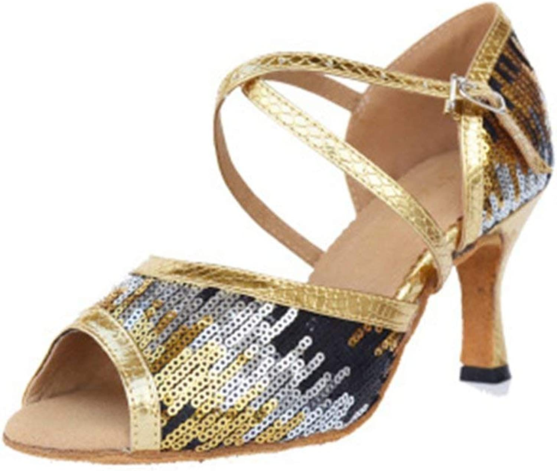 Beautiful - Fashion Women's Glitter Latin Salsa Tango Heel Dancing shoes Ballroom Morden Wedding Party Adult Dance Sandals