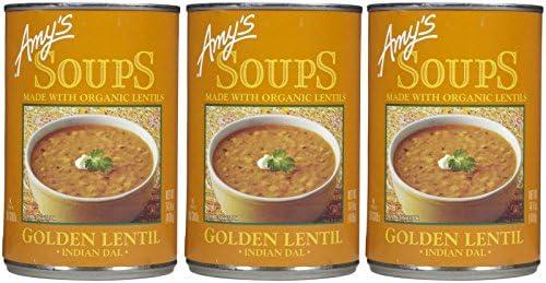 Amy s Organic Golden Lentil Soup 14 4 OZ 3 pk product image