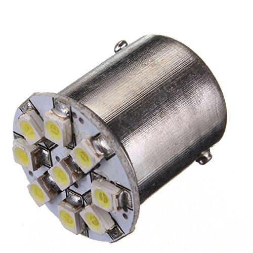 MASUNN 1156 3528 LED 9 SMD Voiture Tourner la Queue de l'anneau en Acier Ampoule de signalisation Inverse