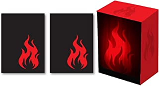 Legion SUPER Iconic FIRE Red Deck Box + 100 GLOSS Finish Iconic Sleeves (fits Magic / MTG, Pokemon Cards)