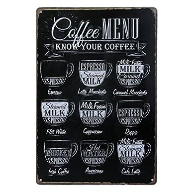 Foto di Poster stile vintage da parete in metallo e stagno, ideale per il bar, caffè, pub, 20x 30cm (lingua italiana non garantita)