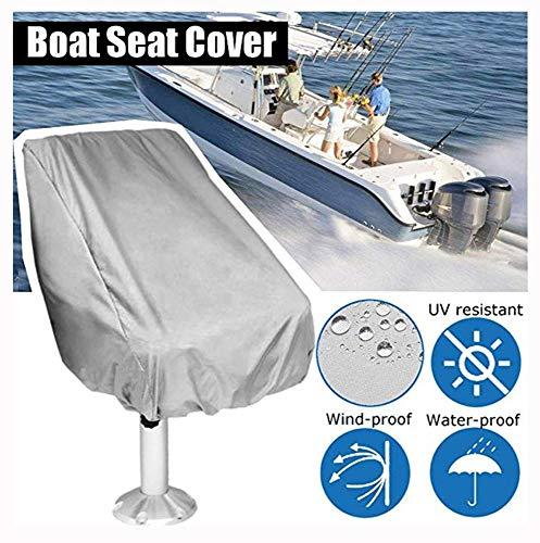 YMYP08 Speedboat mariene stoelhoes, mariene stoel stofhoes, waterdichte zonwering zitting schip center console cover, boot stoelhoezen (wit)