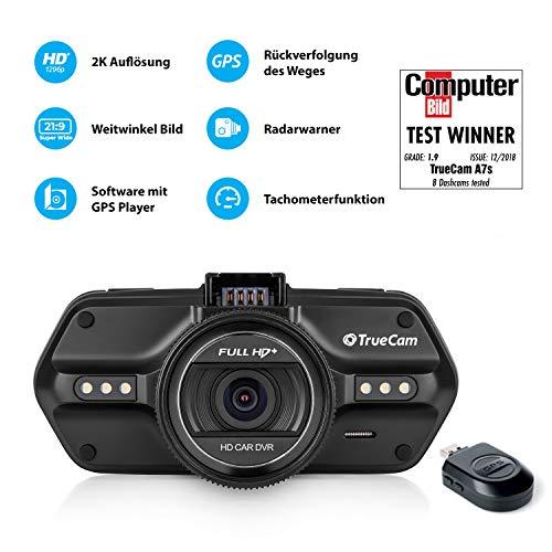 TrueCam A7s GPS Professionelle Dashcam Autokamera 2K Super HD - 2