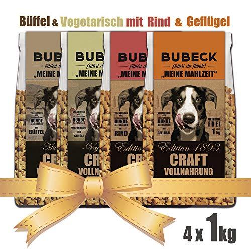 seit 1893 Bubeck Hundefutter Bundle | Büffel Rind Vegetarisch Geflügel | Getreidefreies Trockenfutter